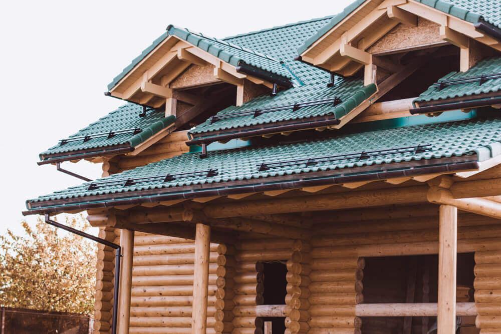 крыша с двумя фонарями