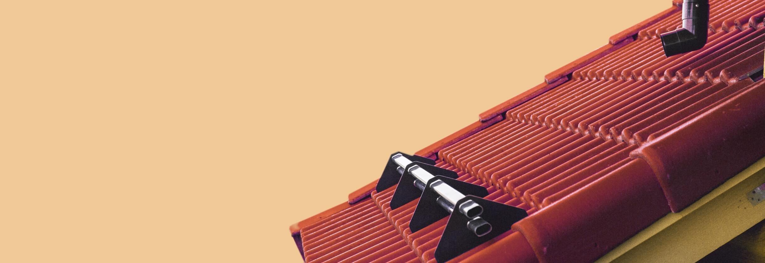 Изображение части ската крыши символизирующее кровельные работы