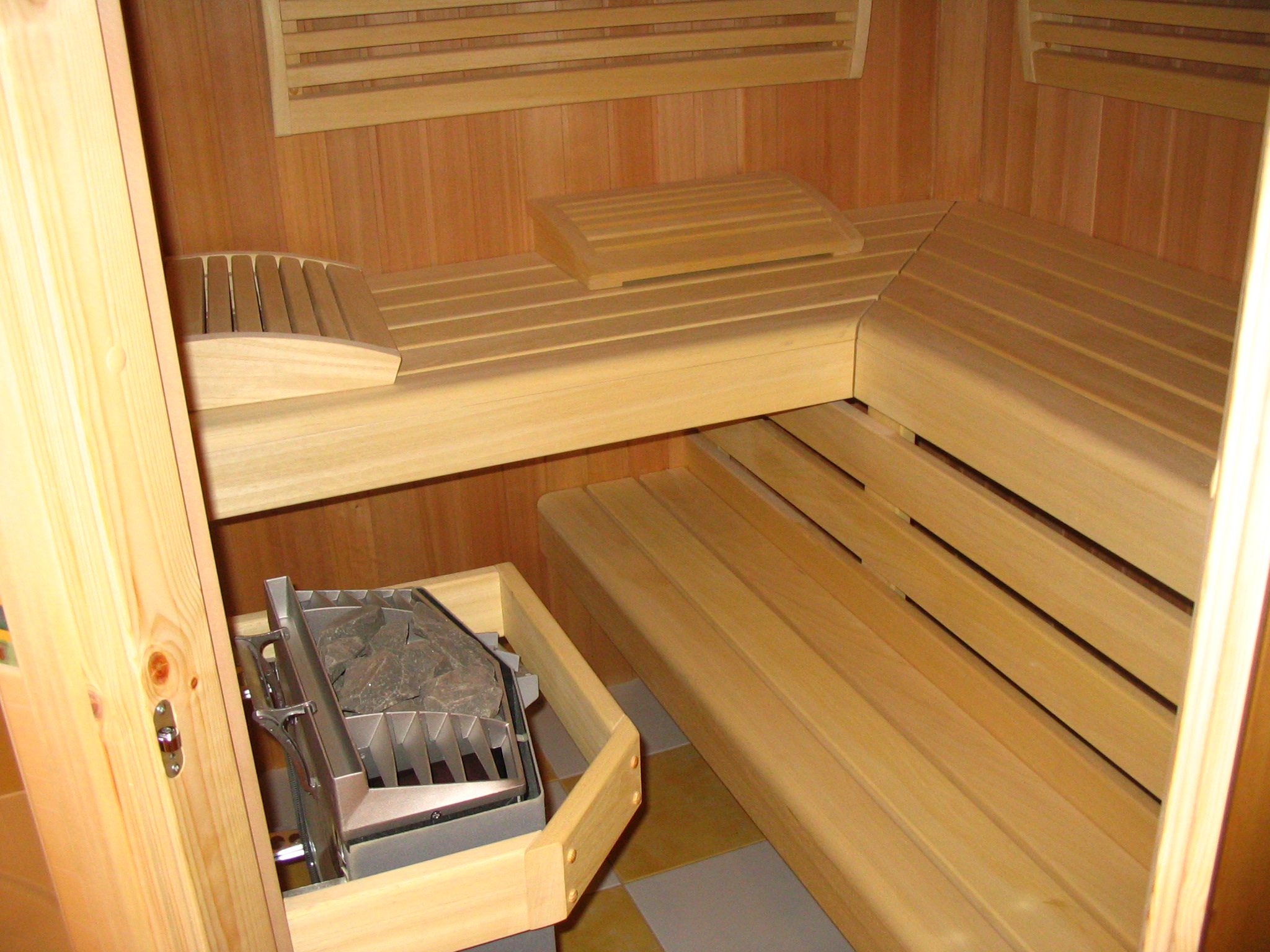 steam room with electric oven