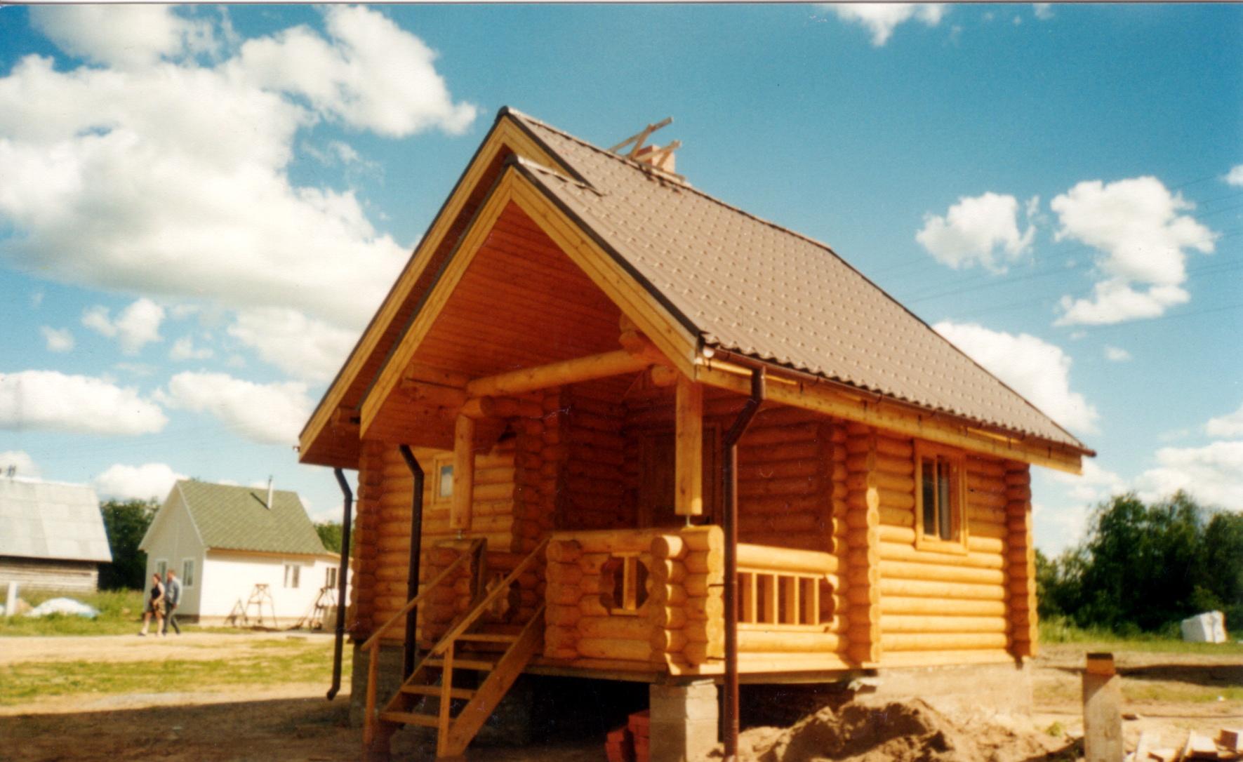 log sauna. turnkey construction baths