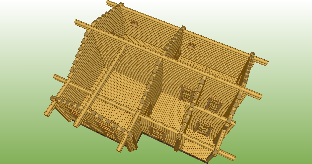 section of the bathhouse according to project No. 18