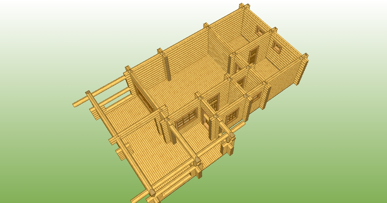 проект №6 бани с террасой разрез