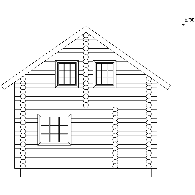 house facade according to project No. 10