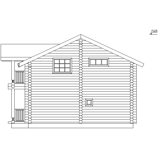 проект №6 двухэтажного дома фасад