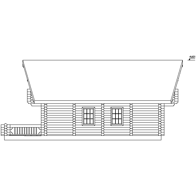 house facade according to project No. 8