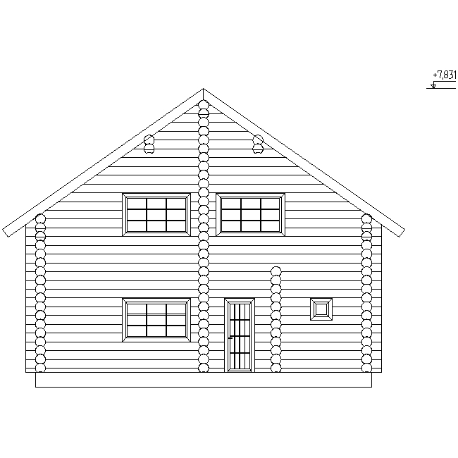 house facade according to project No. 9