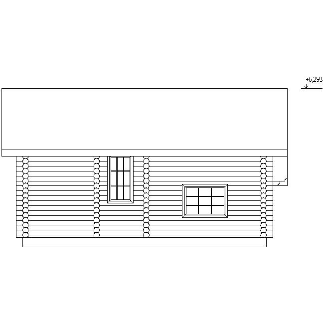 house facade according to project No. 11