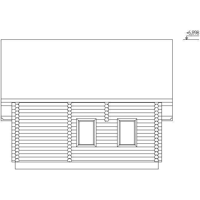 house facade according to project No. 12