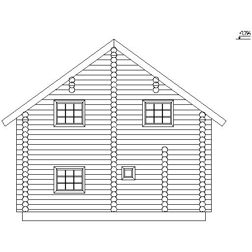 фасад дома по проекту №7