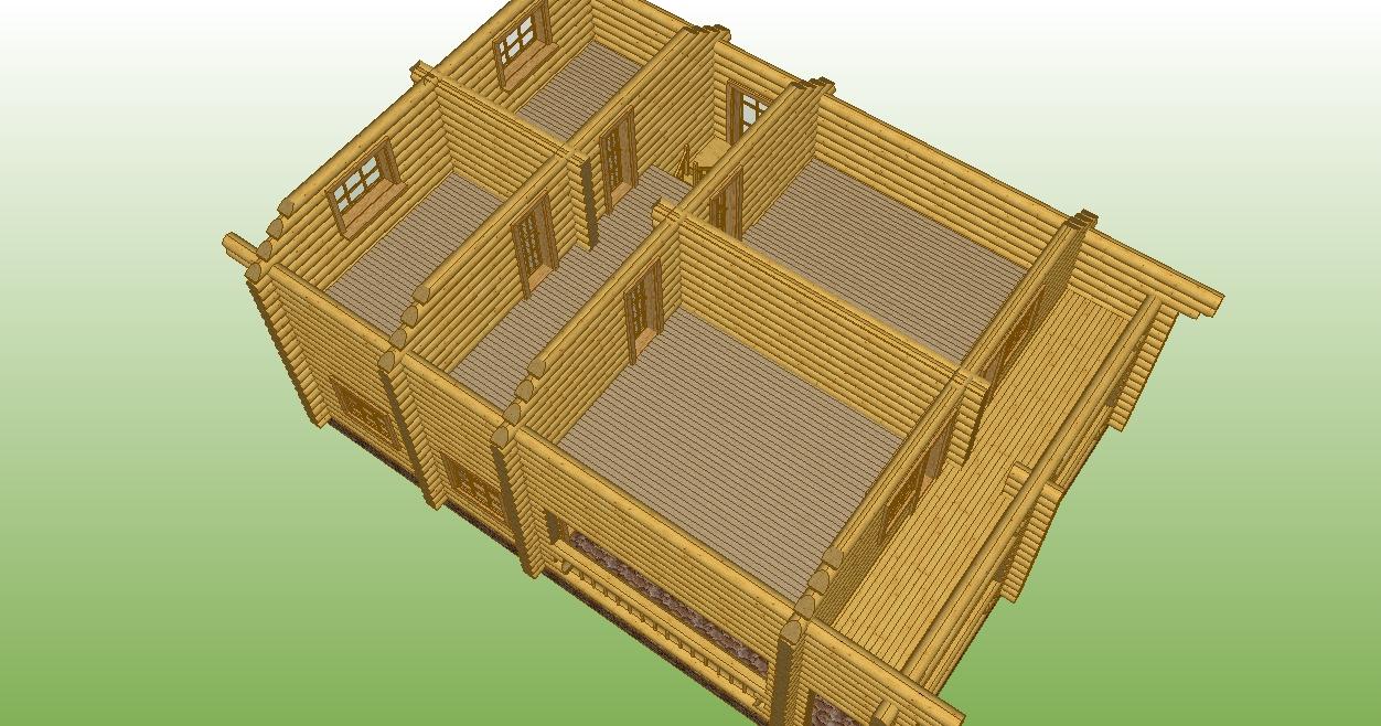 изображение второго этажа сруба по проекту №7