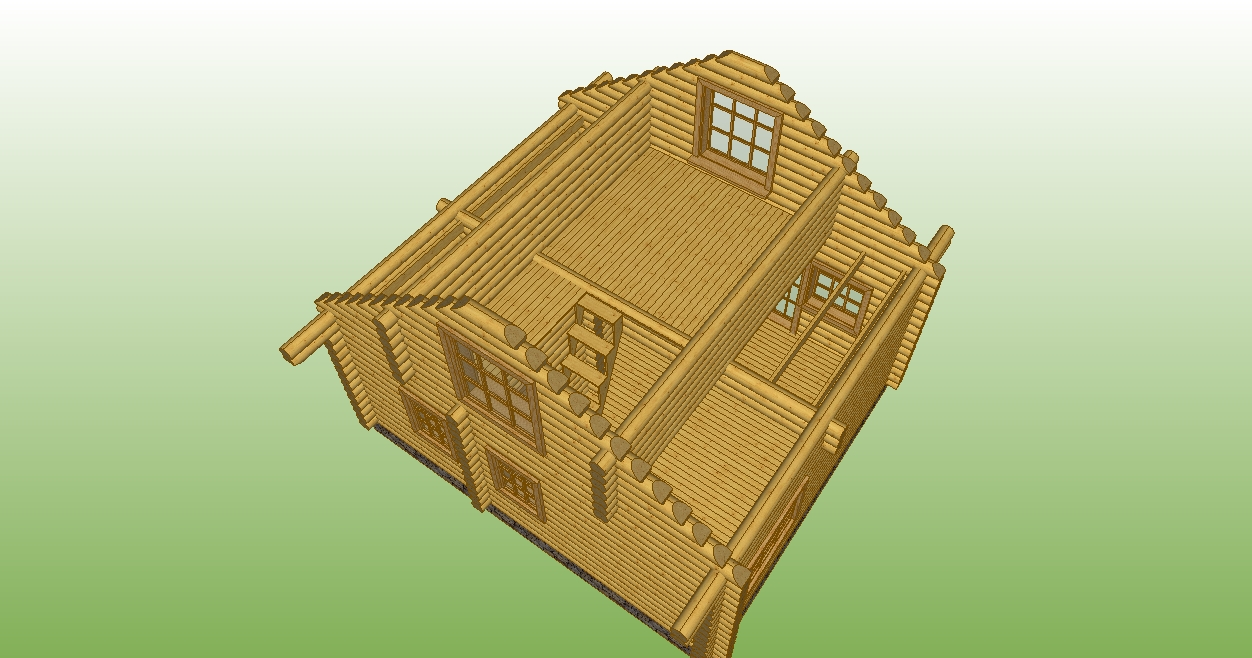 image of the second floor of a wooden house on the project number 3