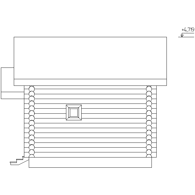facade of the sauna according to project No. 1