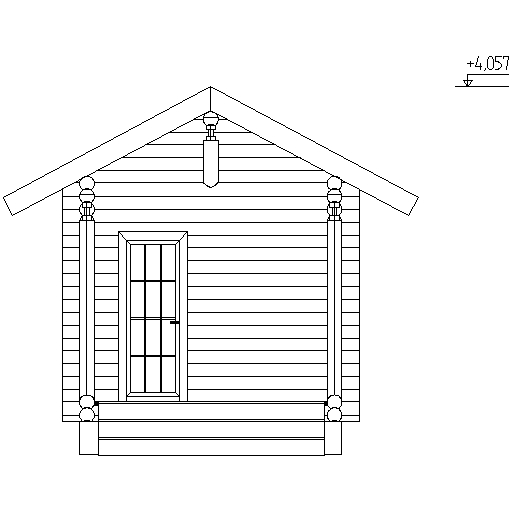 facade of the bathhouse according to project No. 11