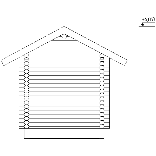 facade of a log bath according to project No. 11