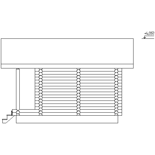facade of a small sauna according to project No. 11