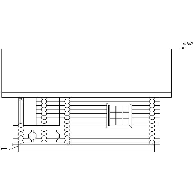 фасад бани по проекту №13