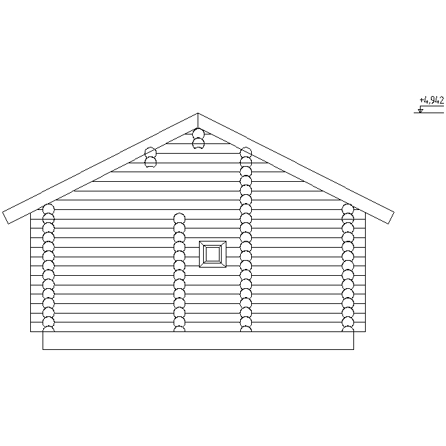 facade of the banip log house project No. 13