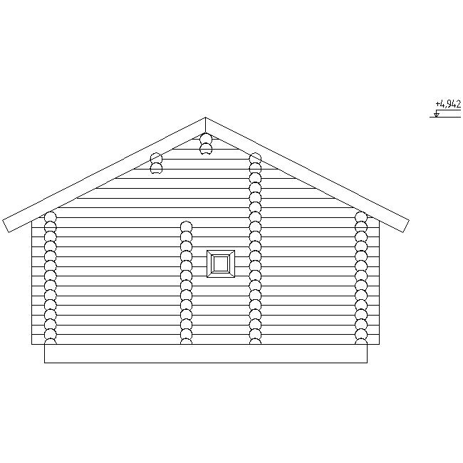 фасад бревенчатой бани по проекту №13