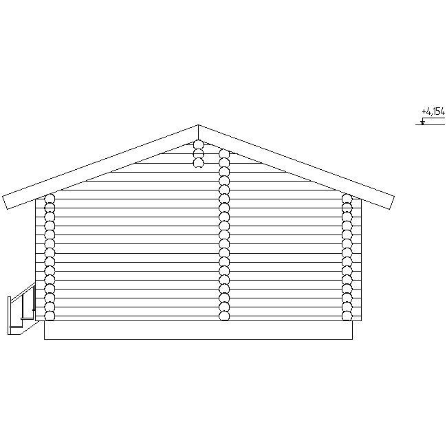 facade of the bathhouse according to project No. 16