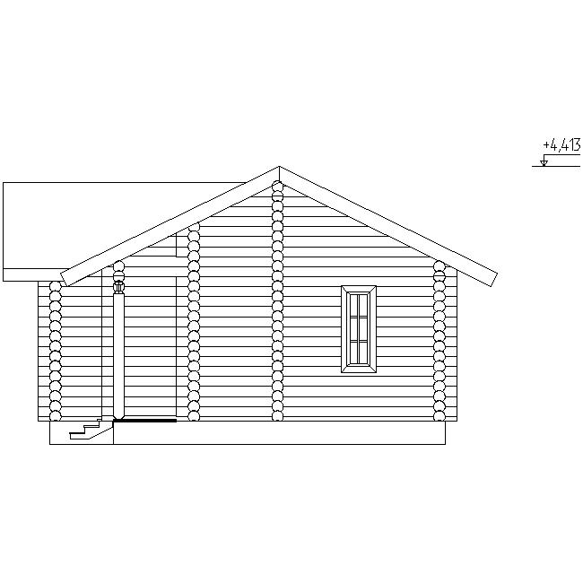 facade of the bathhouse according to project No. 18