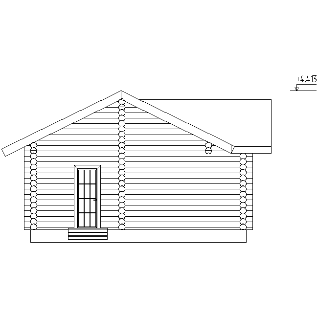 facade of the sauna according to project No. 18
