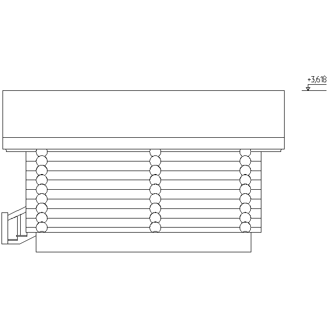 facade of the bathhouse according to project No. 3
