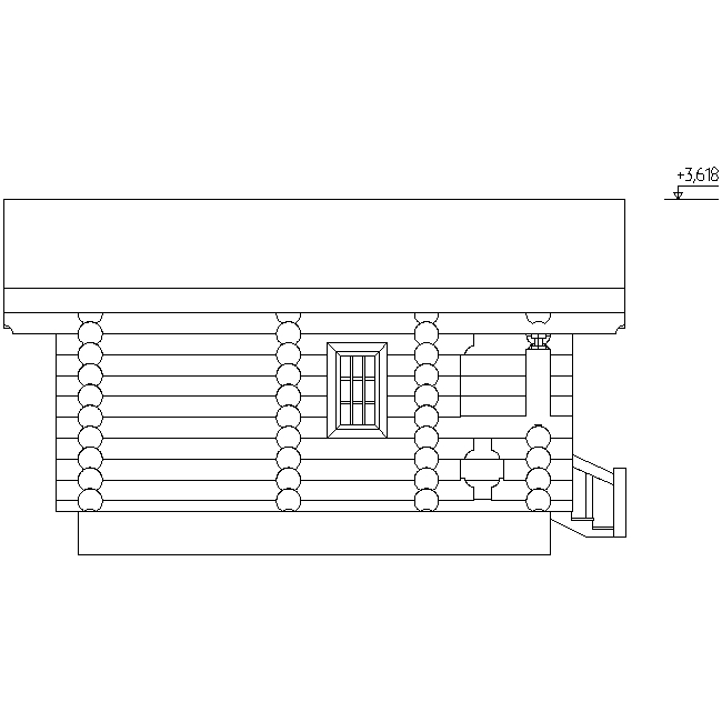facade of the sauna according to project No. 3