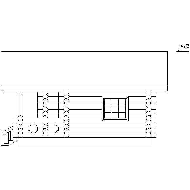 facade of the bathhouse according to project No. 4