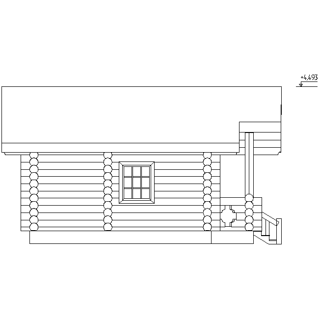 facade of a log bath according to project No. 4