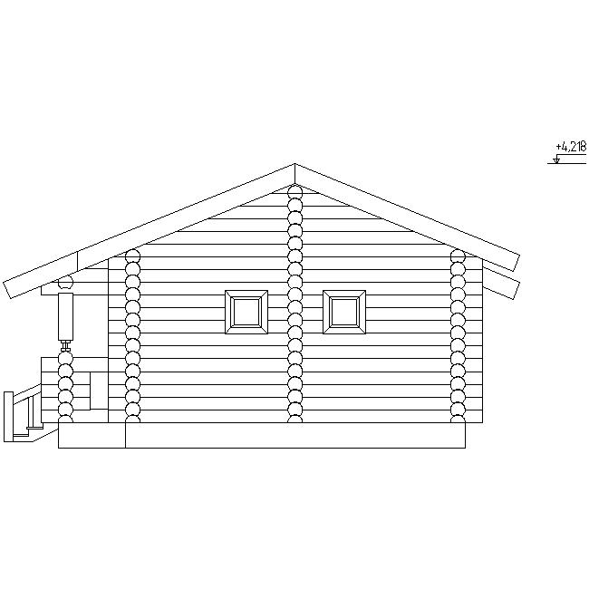 фасад бани по проекту №6