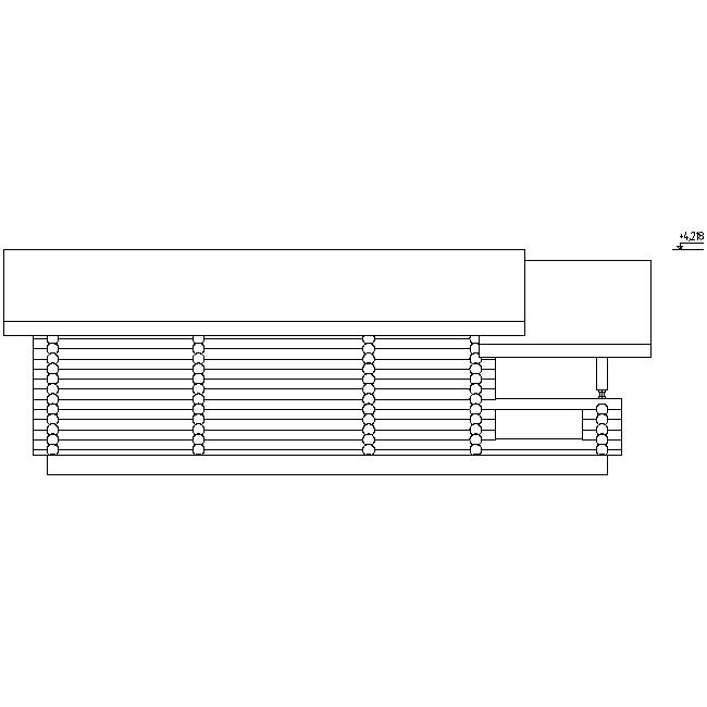 фасад сауны по проекту №6