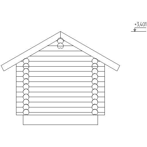 facade of the bathhouse according to project No. 7