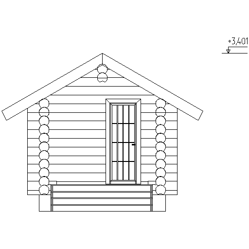 facade of the sauna according to project No. 7