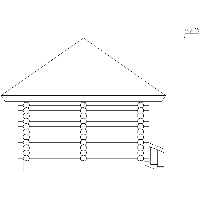 facade of the sauna according to project No. 9
