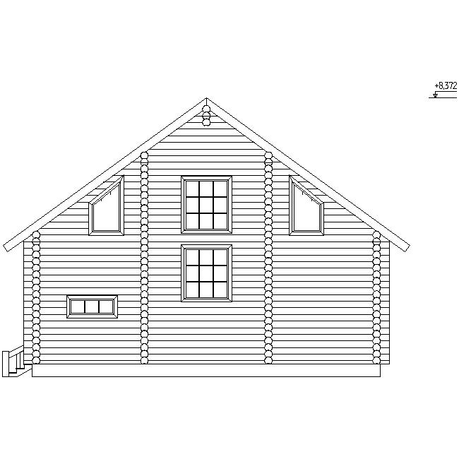 house facade according to project No. 13