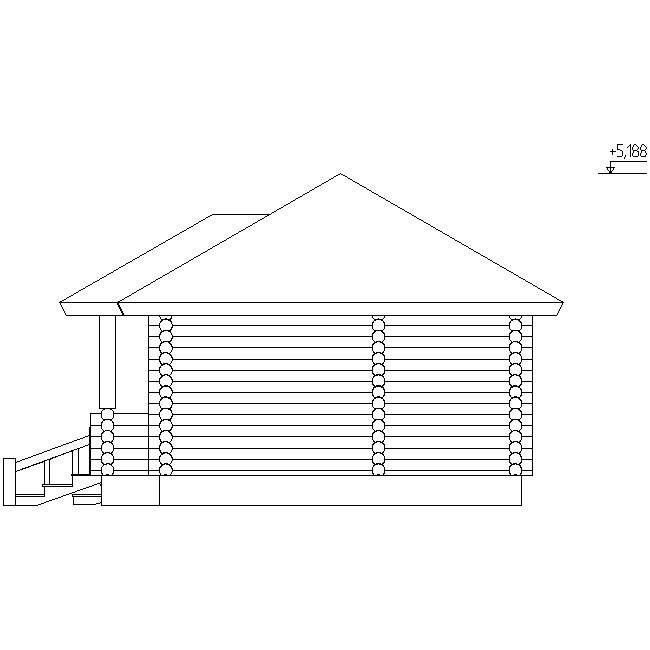 фасад дома по проекту №14