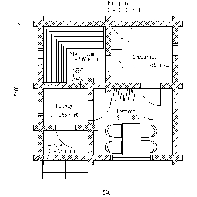 bath plan for project No. 12
