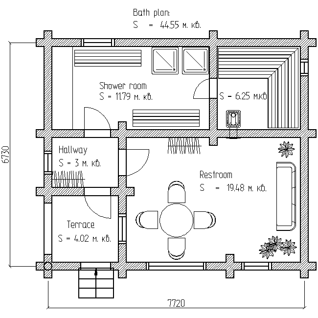 bath plan for project No. 14