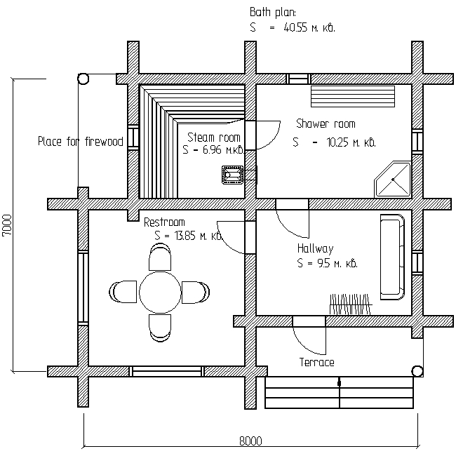 bath plan for project No. 17