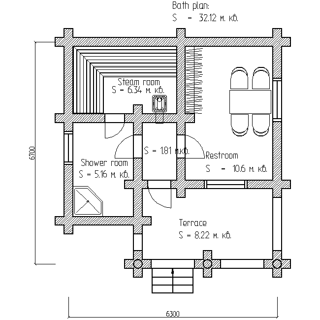 bath plan for project No. 4