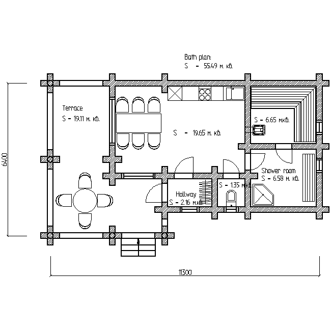bath plan for project No. 6
