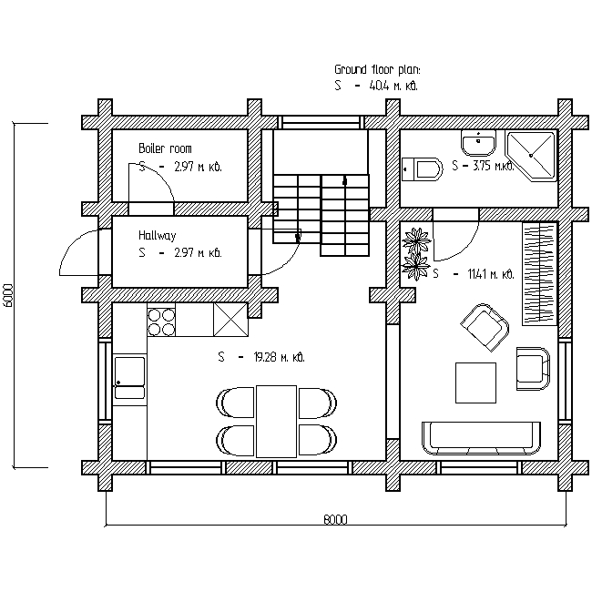 plan of the first floor of a country house project