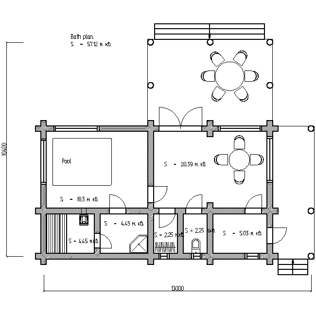 bath plan for project No. 5
