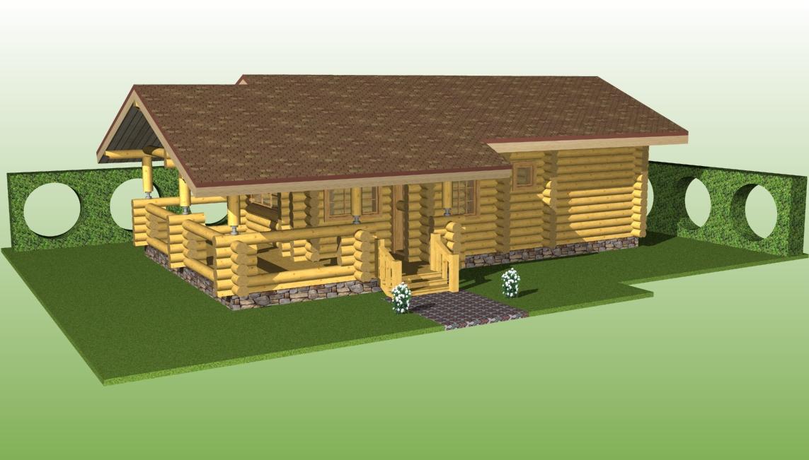 проект №6 бани с террасой