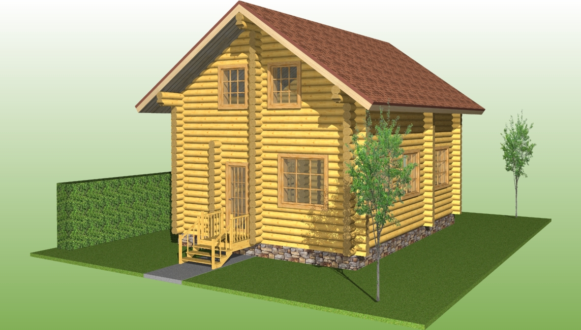 wooden houses projects, house project №10