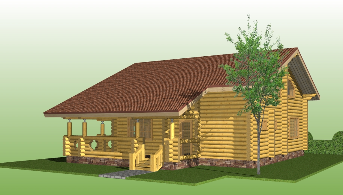projects of woodenn houses, house project №11