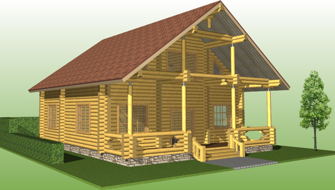 projects of woodenn houses, house project №13
