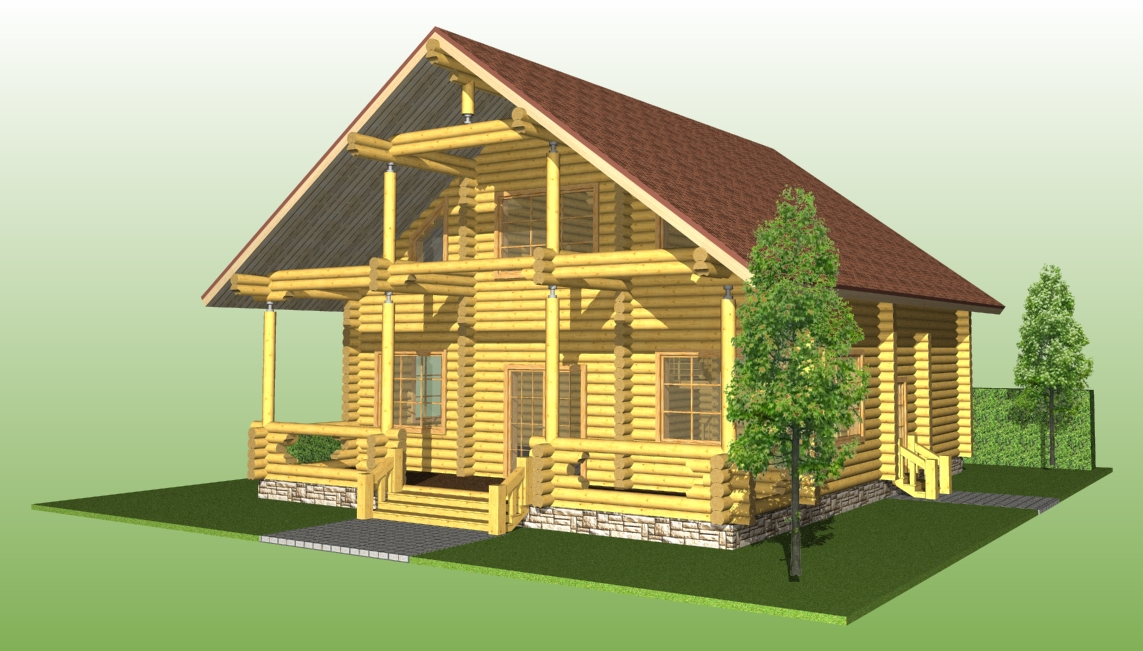 image of a log house according to project No. 13