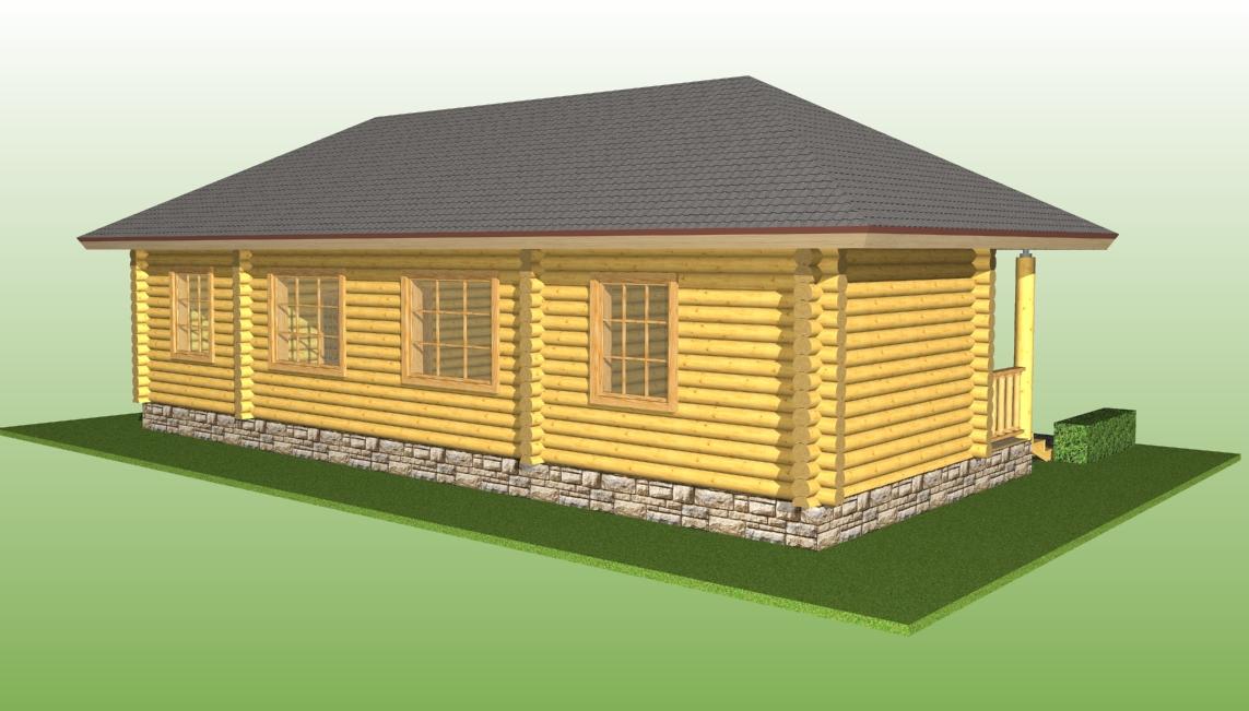 изображение бревенчатого дома по проекту №14