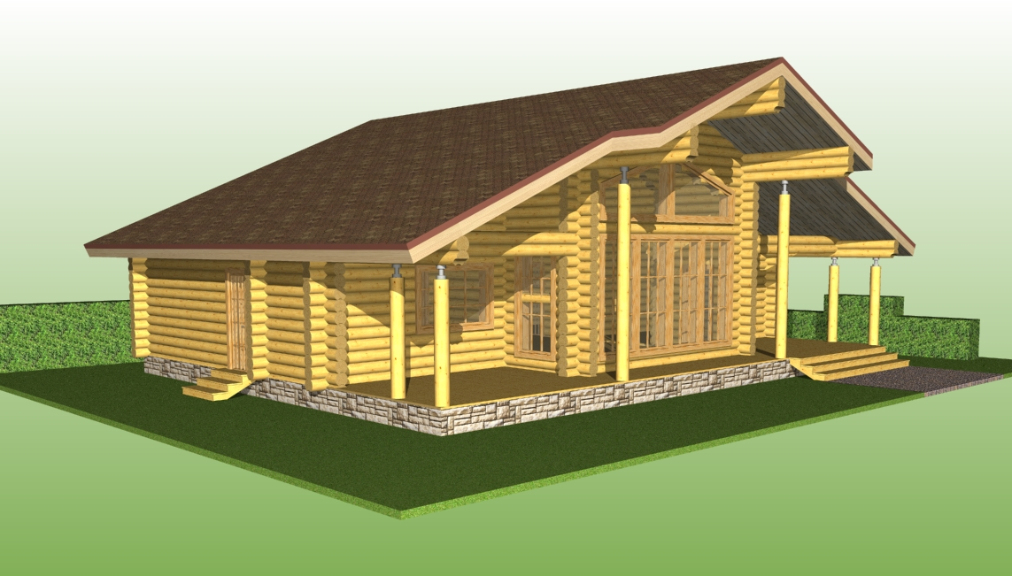 project of wooden house No. 2